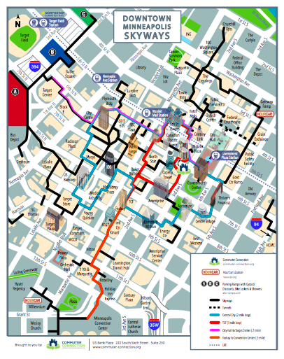 Minneapolis Skyway Map  MAP2
